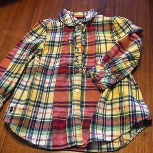 Ralph Lauren plaid shirt with ruffle